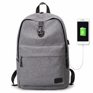 Modern Casual Backpack With USB Port