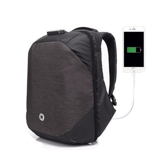 Secure Lock Backpack With USB Port