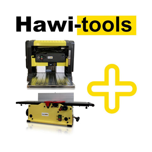 "8"" Benchtop Jointer + 13"" Planer spiral cutter عرض خاص للجوينتر و البلينر-Jointer and Planer-Hawi Tools-Hawi tools-هاوي عدد"