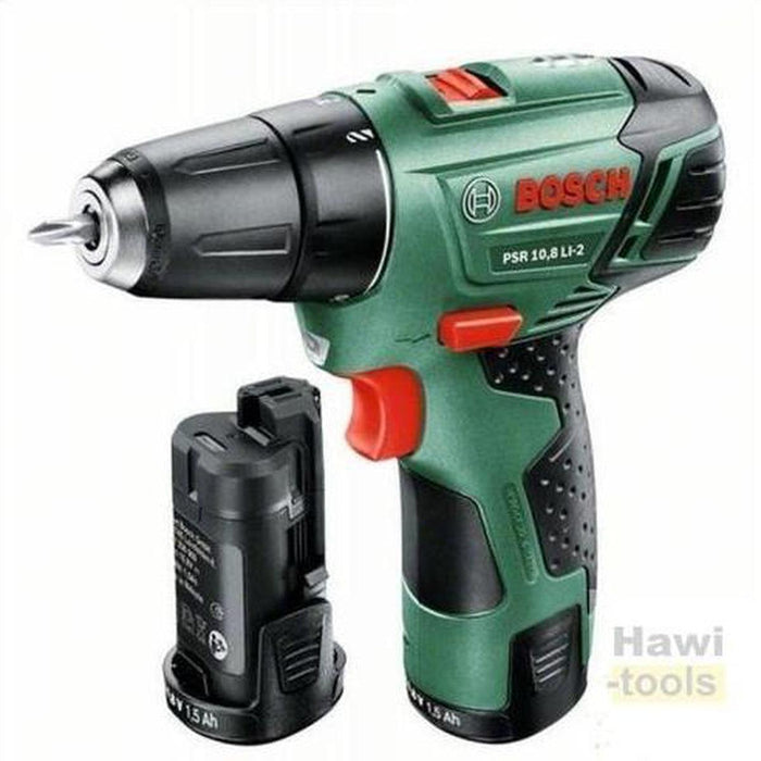 BOSCH Lithium-ion Cordless Two-speed Combi PSR 10,8 LI-2 (1 battery pack) دريل هامر بطاريه-BOSCH PT-Hawi tools-هاوي عدد