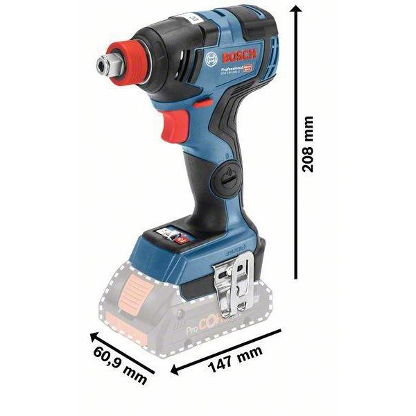 Cordless Impact Driver/Wrench GDX 18V-200 C Professional مفك صواميل و براغي بدون شاحن او بطاريه-BOSCH Tool select-Hawi tools-هاوي عدد
