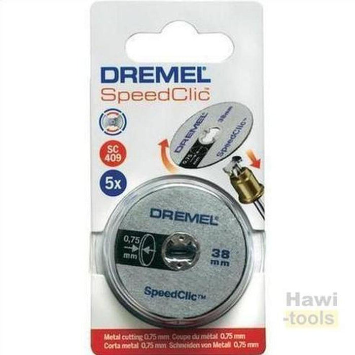 Dremel 2615S409JB SC409 EZ SpeedClic Thin Cutting Wheels - 5 Pack ديسك قص حديد 5 قطع-DREMEL-Hawi tools-هاوي عدد