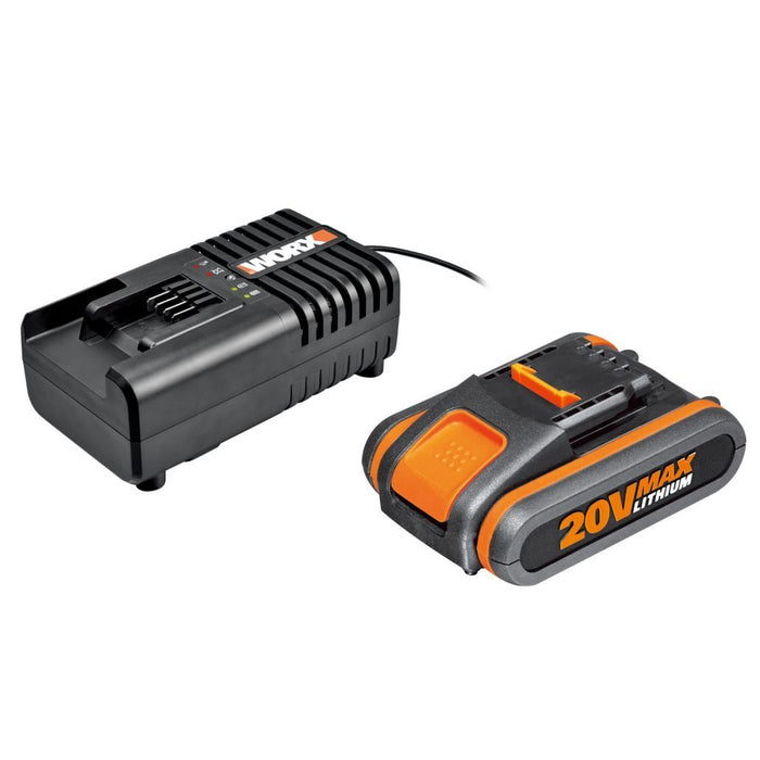 Worx battery and charger kit 20V / 2.0 Ah battery and charger 14.4-20V – WA3601