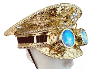 Burning Man Gold Sequin Hat, , mouth-of-the-south-psf.myshopify.com, Mouth of the South PSF