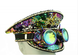Burning Man Rainbow Sequin Hat, , mouth-of-the-south-psf.myshopify.com, Mouth of the South PSF