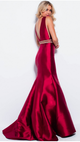 deep v prom red