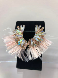 Crystal Wing and Feather Earrings, , mouth-of-the-south-psf.myshopify.com, Mouth of the South PSF