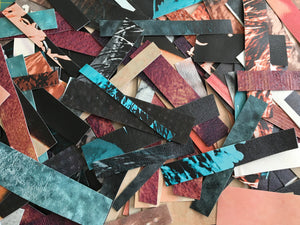 1/2 Pound Scrap Strips of Fused Billboard Vinyl