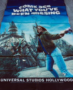 Billboard ad for the Harry Potter attraction at a Universal Studios Theme Park.