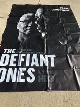 A billboard featuring the HBO series The Defiant Ones with Dr. Dre and Jimmy Iovine.