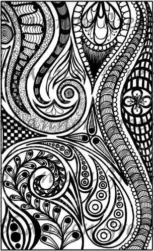 Doodle 6-Digital Download from Hand Painted/Drawn Papers/Journal Pages