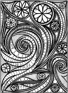 Doodle 9-Digital Download from Hand Painted/Drawn Papers/Journal Pages