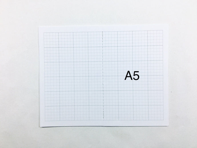 A5 Text Weight Grid Bound Notebook Insert with SuedeTex® Covers