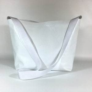 Paintable White Vinyl Tote Bag