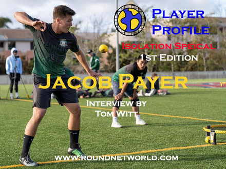 Roundnet World Isolation Special Player Interview #1 - Jacob Payer  - National Champion - 2019 Spikeball Roundnet College Nationals