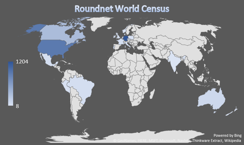 Roundnet world census - countries
