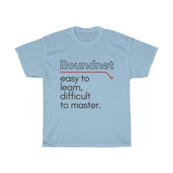 'Easy to Learn, Difficult to Master' Tee - roundnet world - spikeball clothing