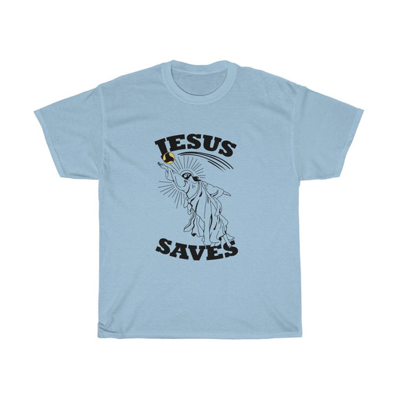 The Infamous 'Jesus Saves' Tee - roundnet world - spikeball clothing