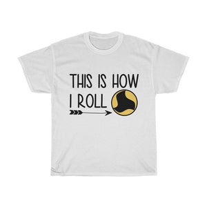'This is how I roll' tee - roundnet world - spikeball clothing