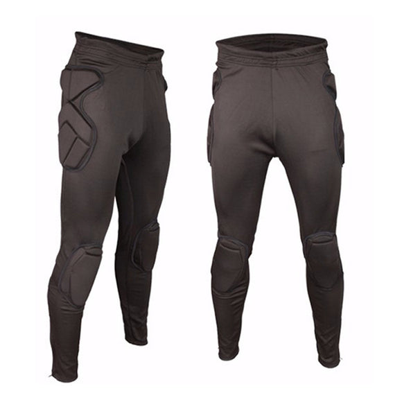 Black Compression Pants With Padding - roundnet world - spikeball clothing