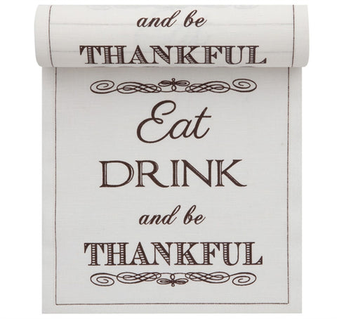 Eat Drink & Be Thankful Linen Napkin