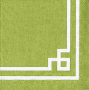 Rive Gauche moss green Paper Cocktail Napkins - 20 per package