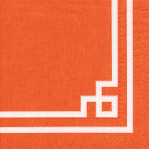 Rive Gauche Orange Paper Cocktail Napkins - 20 per package