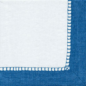 Linen Blue Paper Cocktail Napkins - 20 per package