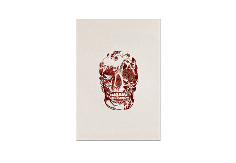 Red Delft Skull w.Glitter (Single) Stationary Letter