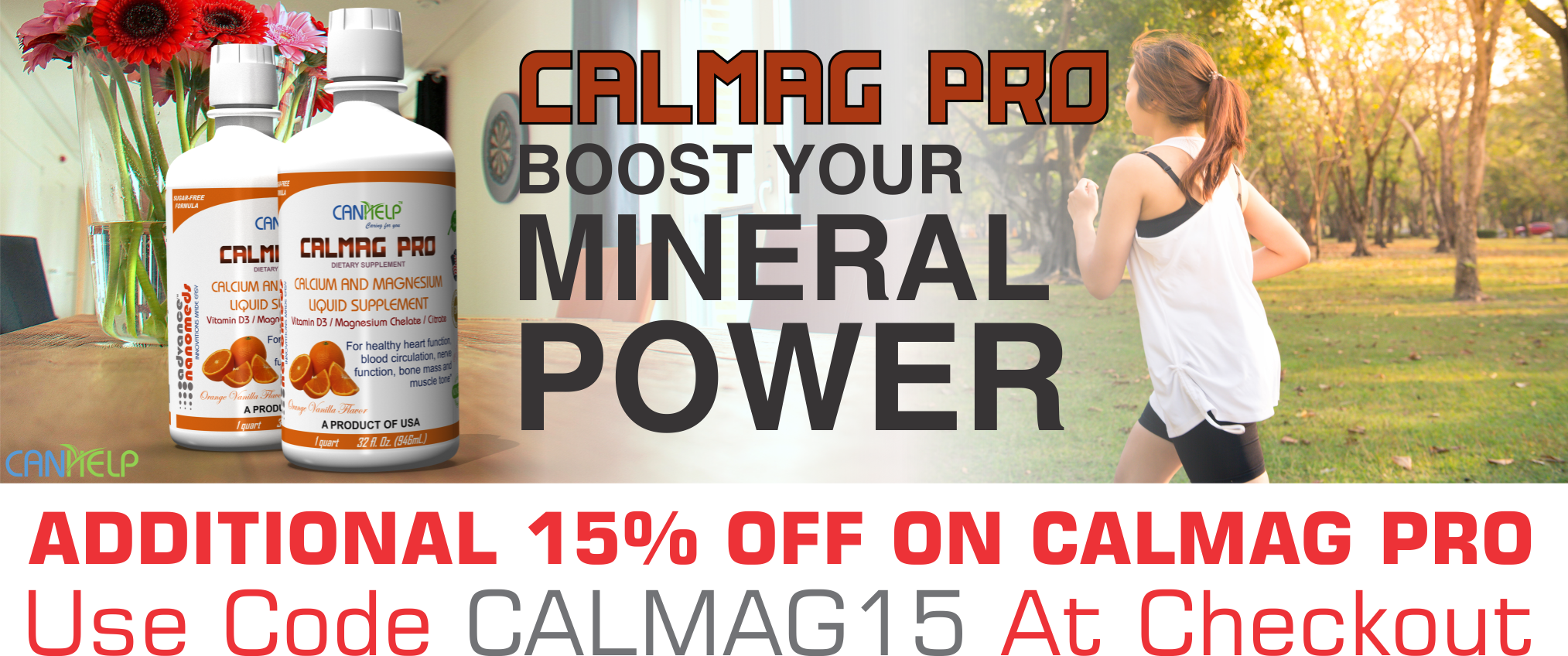 15% OFF ON CALMAGPRO-CALMAG SUPPLEMENT-CALCIUM-MAGNESIUM-MINERALS-VITAMINS