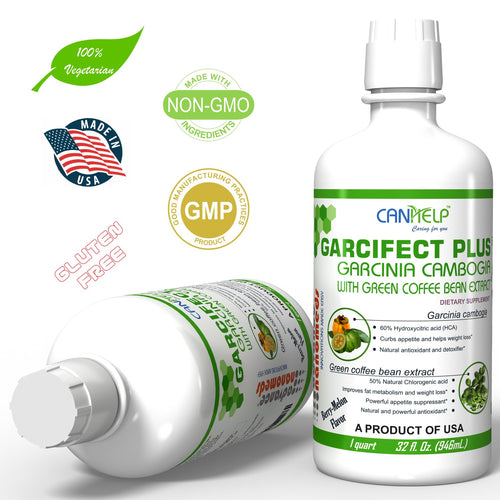 Garcinia Cambogia With Green Coffee Bean Extract Liquid Supplement 32 Fl.Oz.(Garcifect Plus)-Dietary Supplement-Advance Nanomeds LLC