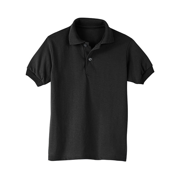 Hanes Kids' Cotton-Blend EcoSmart® Jersey Polo,Style 054Y