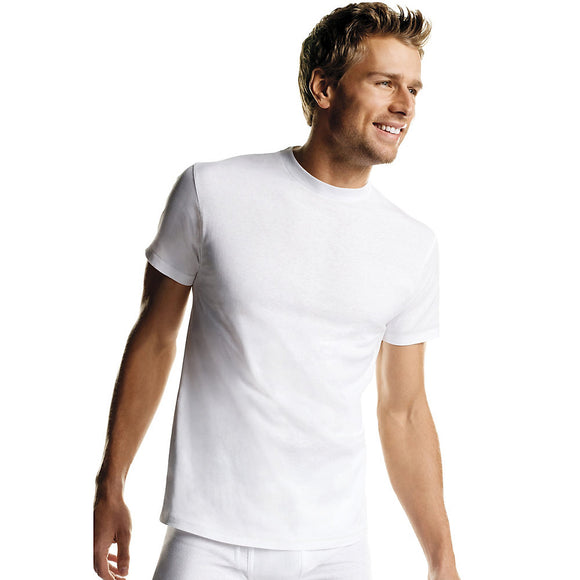 Hanes Men's White Tagless Crewneck Undershirt 6-Pack, Style 2135P6