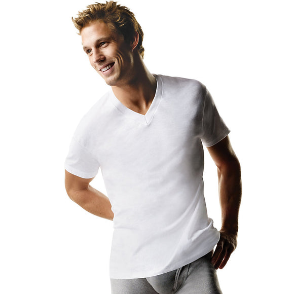 Hanes ComfortSoft® TAGLESS® Men's Big & Tall V-Neck Undershirt 3-Pack,Style 115HNT