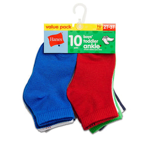 Hanes Boys' Infant/Toddler Ankle 10-Pack,Style 27/10