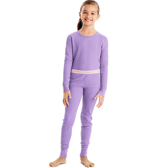 Hanes X-Temp™ Girls' Organic Cotton Thermal Set,Style 34600