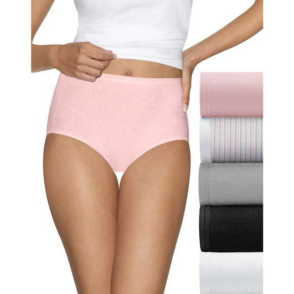 Hanes Ultimate Comfort Cotton Women's Brief Panties 5-Pack, Style 40HUCC