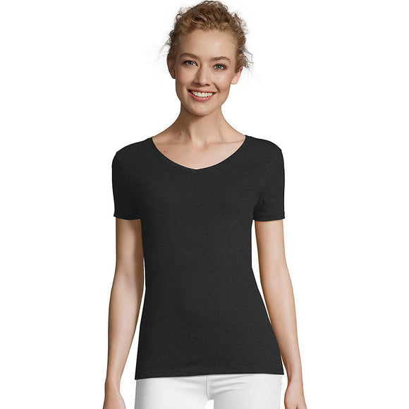 Hanes Women's X-Temp w/Fresh IQ Tri-Blend Performance V-Neck Tee,Style 42VT