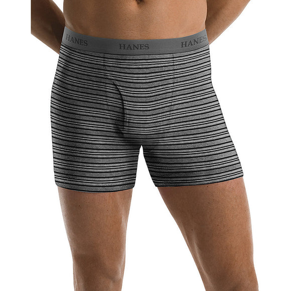Hanes Men's TAGLESS® Ultimate Fashion Stripe Boxer Briefs with Comfort Flex® Waistband 5-Pack,Style 76925S