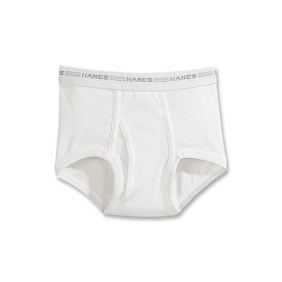 Hanes Boys' White Briefs Value 6-Pack,Style B252P6