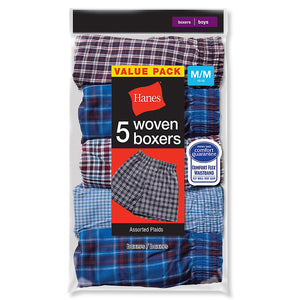 Hanes Boys Red Label Tartan Boxer,Style B841W5