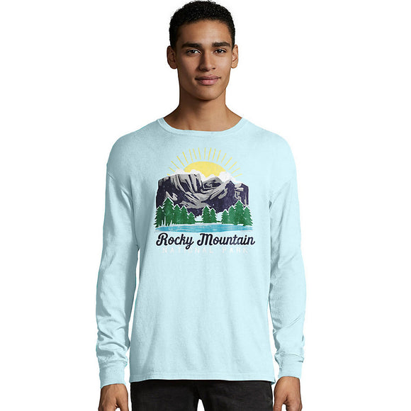 Hanes Men's ComfortWash™ Rocky Mountain National Park Long Sleeve Tee,Style G200P Y07850