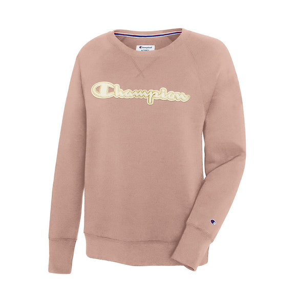 Champion Women's Powerblend® Fleece Crew, Chainstitch Logo,Style GF567 Y07970