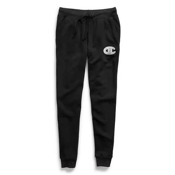 Champion Women's Powerblend® Fleece Joggers, Chainstitch C Logo,Style GF937 Y07971