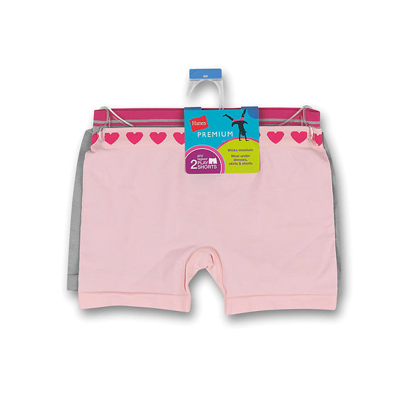 Hanes Premium Girls' Playshorts 5-Pack,Style GHAPS2