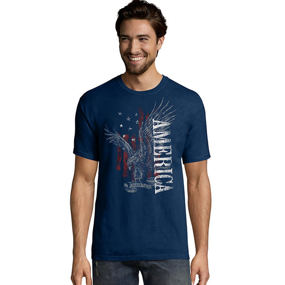 Men's Eagle America Graphic Tee,Style GT49 Y06043