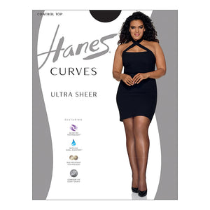 Hanes Curves Ultra Sheer Control Top Legwear,Style HSP001