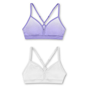 Hanes Girls' ComfortFlex Fit® Pullover Bra with Adjustable Racerback Straps 2-Pack,Style MHH198