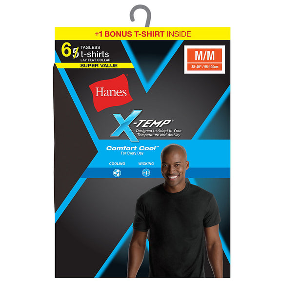 Hanes Men's Red Label X-Temp Dyed Crew Bonus Pk P5+1 Free,Style MXT1B6