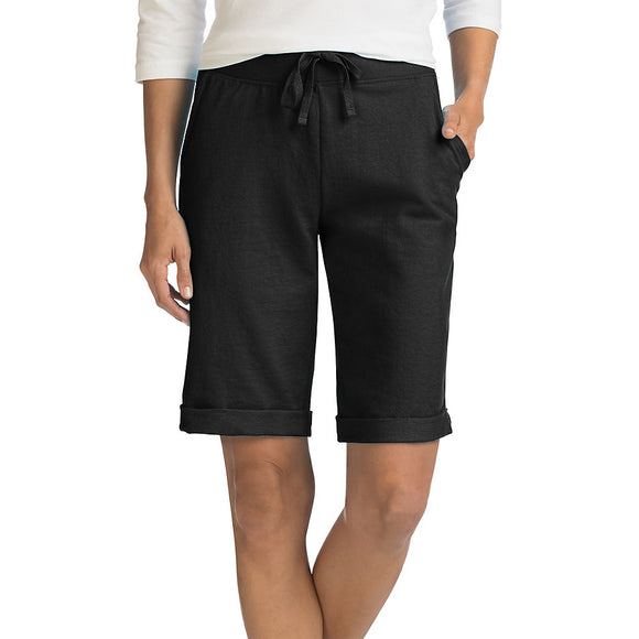 Hanes Women's French Terry Bermuda Pocket Short,Style O4681